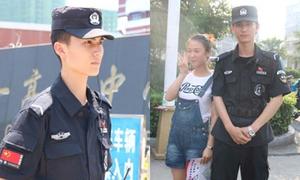Cảnh sát đẹp như tài tử khiến nữ sinh náo loạn