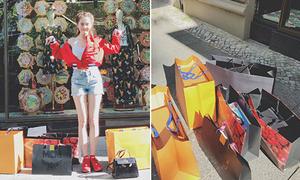 Ngọc Trinh khoe chiến tích mua sắm 'ác liệt' hậu Đêm hội chân dài