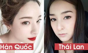3 khác biệt rõ nét trong cách trang điểm của con gái Hàn - Thái