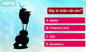 Quiz: Nhìn bóng đoán trúng phóc tên nhân vật Disney