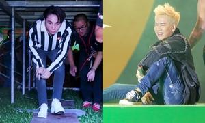 Sơn Tùng chui gầm sân khấu, Lou Hoàng trượt té vẫn 'quậy bung nóc' với fan