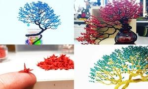 Cây bonsai được xếp từ hàng nghìn con hạc giấy
