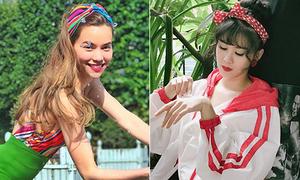 Dàn sao Việt chứng minh khăn turban có thể giúp tăng nhan sắc
