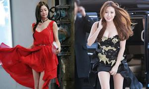 Bị gió thổi tốc váy, mỹ nhân Hàn vẫn giữ được vẻ duyên dáng