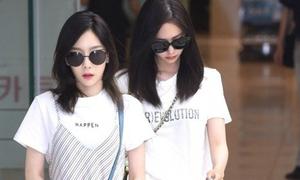 Dàn trai xinh, gái đẹp nhà SM mặc đơn giản mà đẹp ở sân bay