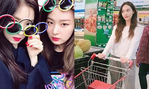 Sao Hàn 24/6: Irene - Seul Gi đọ mặt ngầu, Jessica dạo siêu thị ở TP HCM