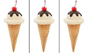 Tìm ra điểm khác lạ duy nhất trên cây kem, bạn sẽ là 'thánh soi'