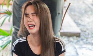 Ngọc Trinh khóc mếu học võ để đóng phim hành động