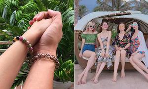 Sao Việt 28/6: Bảo Thanh nắm tay chồng tình cảm, Thiều Trâm khoe 3 chị gái 'như tiên'