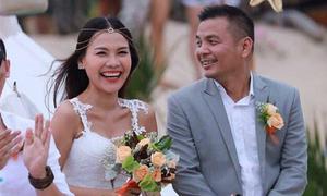Sau 1 tháng 'kén chồng', MC Như Quỳnh có lễ cưới lãng mạn trên bãi biển