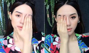 Chiêu makeup che mắt 'như buồn ngủ' của mỹ nhân The Face Khánh Linh