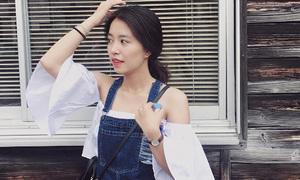 Mẫn Tiên cao chưa đến 1m50 vẫn mặc style Nhật xinh ngất