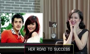 Đông Nhi làm mặt kute khi nhắc Ông Cao Thắng trên kênh MTV Asia