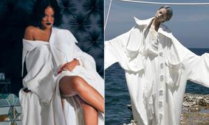Chân dài Việt hiếm hoi được diện chung đồ Công Trí với Rihanna