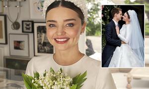 Quá trình chuẩn bị váy cưới đẹp như cổ tích của Miranda Kerr