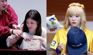 Biểu cảm 'cả thế giới sụp đổ' của idol Kpop khi bị cướp đồ ăn