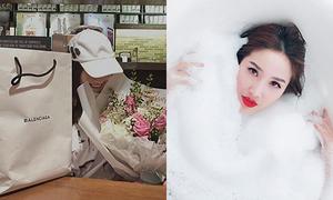 Sao Việt 21/7: Phở tặng quà đắt tiền cho bạn gái, Bảo Thy 'sống ảo' khi tắm