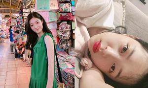 Sao Hàn 24/7: Sulli khoe da trắng nõn, 'tiểu Suzy' dạo chợ Bến Thành