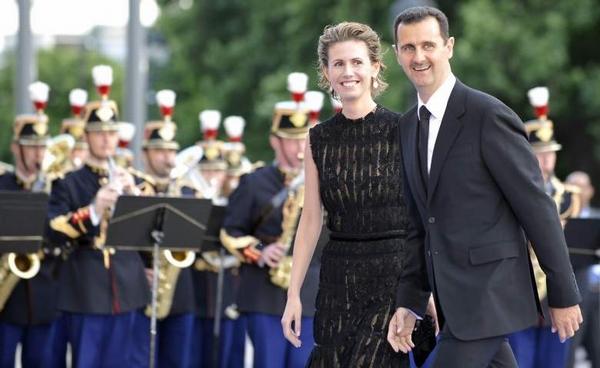 Tổng thống Syria Bashar Al-Assad và phu nhân.