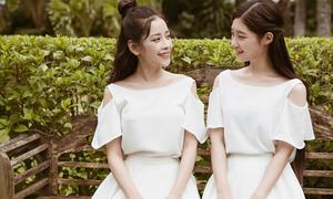 Chi Pu diện đồ đôi với 'nữ thần thế hệ mới' Chae Yeon trên báo Hàn