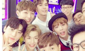 Sao Hàn 3/8: Soo Young lộ đùi khỏe khoắn, dàn trai đẹp Wanna One khoe sắc