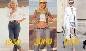 Mốt quần jeans thay đổi thế nào theo năm tháng