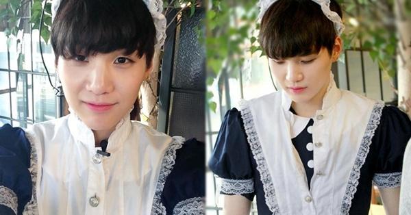 Suga xinh đẹp trong trang phục cô hầu gái của Pháp.