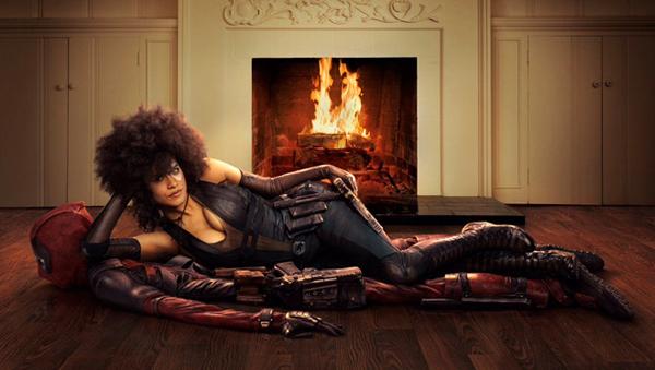 Zazie Beetz trên poster Deadpool 2.