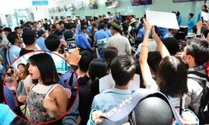Hàng chục bảo vệ áp sát hộ tống TWICE về Hàn