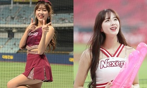 'Nữ thần Hàn Quốc' khiến sân bóng náo loạn