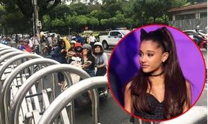 Ariana Grande hủy show, nhiều fan Việt vẫn bức xúc đội mưa đến nơi tổ chức
