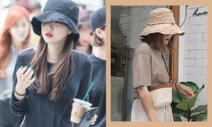 Mốt mũ sùm sụp của idol Hàn 'lây lan' sang giới trẻ Việt