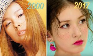 Mốt làm đẹp của idol Hàn thay đổi thế nào trong 15 năm qua