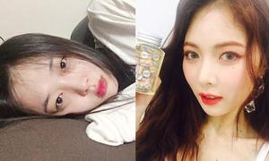 Sao Hàn 31/8: Hyun Ah makeup xinh như mộng, Sulli mặt hốc hác kém tươi