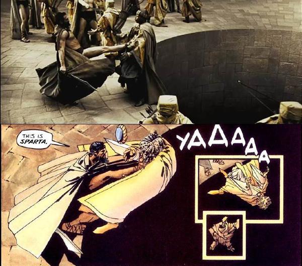 So sánh cảnh phim và khung truyện tranh.