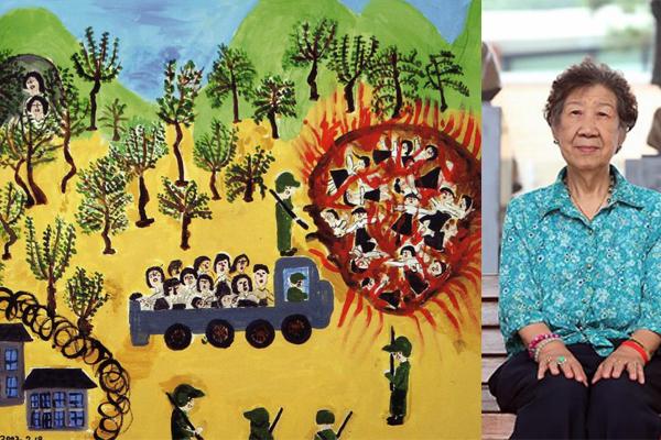Bà Kang Il Chul và bức tranh gây ám ảnh.