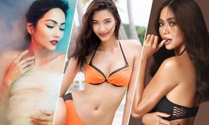 Các chân dài Next Top đối đầu ở Hoa hậu Hoàn vũ 2017