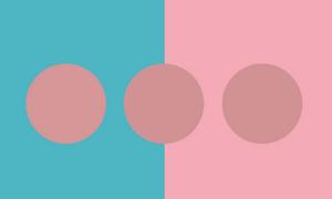 Phân biệt màu khác lạ trong các vòng tròn