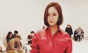 Krystal lần đầu lộ tóc ngắn, mạnh mẽ như 'chiến binh' ở Milan