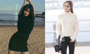 Sao Hàn 22/9: Na Eun khoe style sân bay 'chất', Somi lộ đường cong gợi cảm
