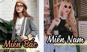 Style giới trẻ Việt: Miền Bắc thích vẻ đẹp Hàn, miền Nam thích phong cách Tây