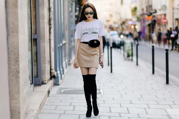 Kỳ Duyên dát hàng hiệu hóa quý cô sang chảnh dạo chơi Paris