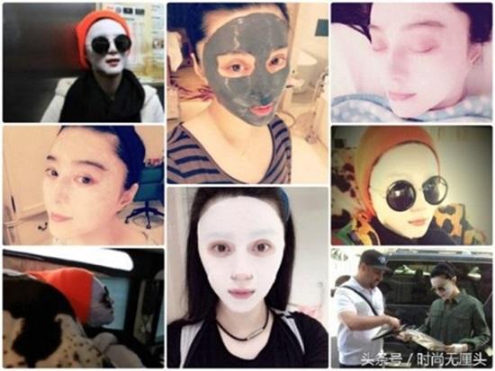 Phạm Băng Băng nổi tiếng với việc dùng mặt nạ để dưỡng da