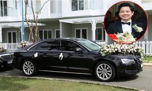 Chú rể Trung Tín đưa cả dàn xế sang đến rước cô dâu Thu Thảo