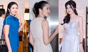 Tăng Thanh Hà đẹp nổi bật giữa dàn mỹ nhân dự tiệc cưới Đặng Thu Thảo
