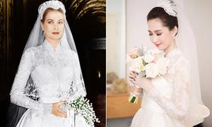 Váy cưới giúp Thu Thảo đẹp như công nương Grace Kelly mất 1 tháng hoàn thành