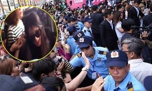 120 bảo vệ hộ tống T-ara tránh bị chen lấn, giật tóc ở Việt Nam