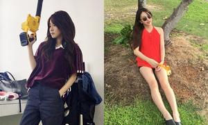 Sao Hàn 10/10: Dara ngầu như đóng phim hành động, Chae Young chụp ảnh 'lừa tình'
