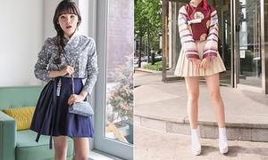 Mốt hanbok mặc cùng váy xếp ly khoe chân của giới trẻ Hàn gây tranh cãi