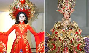 Những bộ quốc phục nặng cân nhất của đại diện Việt Nam khi thi sắc đẹp quốc tế